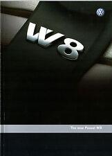 Volkswagen Passat 4.0 W8 2002-04 UK Market Sales Brochure Saloon Estate
