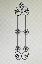 Sturdy Large Ornate Black Wrought Iron Wall Rack for 2 Large Plates or Pictures