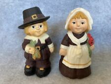 Vintage Hallmark Merry Miniatures Thanksgiving Pilgrim Boy & Girl