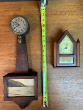 Antique Miniature Clocks - Waltham Banjo & Gilbert Steeple
