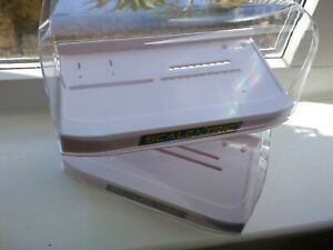 Scalextric 2 New Style Display Cases with White Bases Plain With No Car Name NEW
