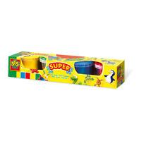SES CREATIVE Children's Play Dough Set, 4 Pots Set, Unisex, 2 to 12 Years,