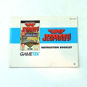 Instruction Booklet SUPER JEOPARDY! (Nintendo NES 1990) Manual Only