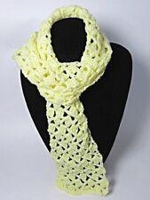 NWOT Crochet Yellow Scarf,Sport Wt. Acrylic Yarn 5 x 44 No Fringe