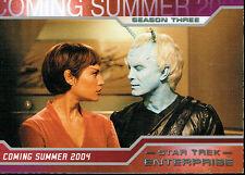 STAR TREK ENTERPRISE SEASON 3 PROMOTIONAL CARD P1