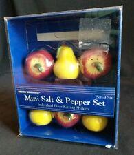 2000 Boston Warehouse Apples and Pears Mini Salt & Pepper Set of Six