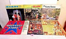 199 Lot 6 LPs+Gee From Hee Haw+Country Guys & Gals+Nashville Stars+Summer+Hits +