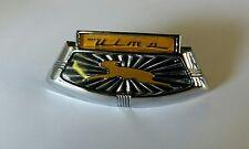 Lambretta orange and black ULMA Horn Cover Horn casting Badge S2 & S3 TV SX LI