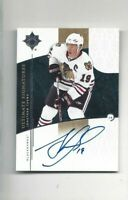 Ultimate Signatures hockey card Jonathan Toews signed Chicago Blackhawks