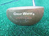 "Golf Great White Tiger Shark B 3200 Mallet Type Putter Very Nice Grip 35 1/4"""