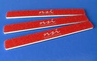 5 NSI MYLAR RED NAIL FILES 80/80 GRIT,for gel acrylic fibreglass nail tips
