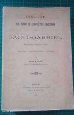 ABBE BLAIN INSTITUT SAINT GABRIEL SAINT LAURENT SEVRE VENDEE 1897 SOURDS MUETS