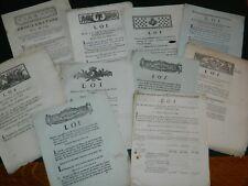 363-REVOLUTION FINANCES lot de 10 doc. 1790-1791 Fabrication monnaie d'argent...