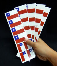 40 Removable Stickers: Chile Flag, Chilean Party Favors, Decals