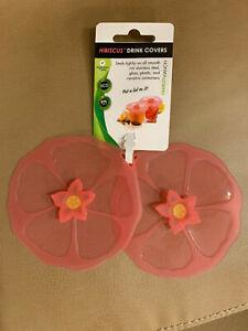 Charles Viancin Hibiscus Drink Covers 2 pack