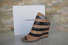 Lujo balenciaga talla 36 cuña red sandalias zapatos marrón nuevo PVP 725 €