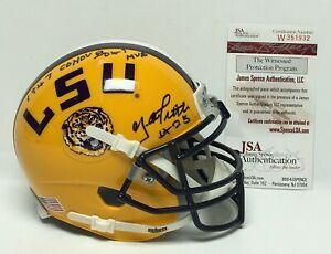 "Y.A. Tittle Signed LSU Tigers Mini-Helmet ""Cotton Bowl MVP"" JSA W351932"