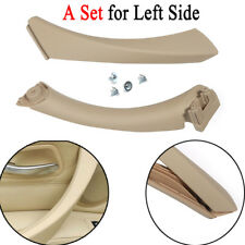 REAR LEFT BEIGE INNER OUTER DOOR PANEL HANDLE PULL TRIM COVER FOR BMW E90 328i