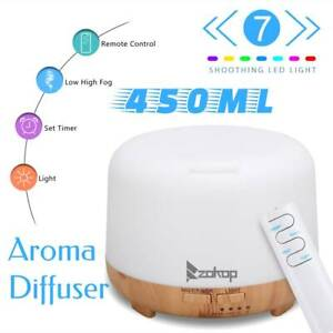 Electric Ultrasonic Diffuser Humidifier Air Purifier Aroma Essential Oil 450ML K