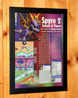 Spyro 2 Season of Flame Rare Small Poster / Old Ad Page Framed Game Boy Advance