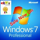 Microsoft Windows 7 Professional Pro 32/64bit Digital License Download Key