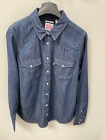 Women's Levi's Ultimate Western Shirt Denim w/ Pearl Snap Buttons Medium $54.50