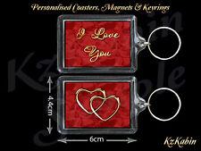 I Love You Hearts Keyring Birthday Anniversary Valentine's Day Gift