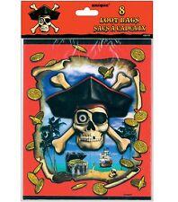 8 sacs à joujoux, à friandises pour anniversaire ile aux tresors pirate Candle