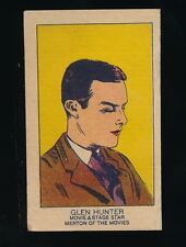 1920's W-Uncataloged Actor Strip Cards (3 lines text) -GLEN HUNTER (Actor)
