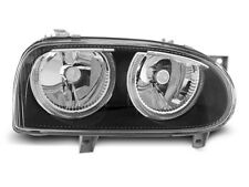 Paire de feux phares VW Golf 3 91-97 angel eyes noir VW29