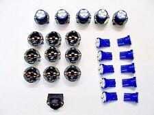 "15 Blue 4 LEDs Light Bulbs 1/2"" Sockets License Plate Dashboard Side Marker GM"