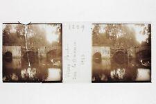 Vieux Pont Briance Photo Stereo Verre cassé Positive Vintage 1923
