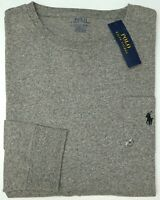 NWT $45 Polo Ralph Lauren Long Sleeve Classic Fit Crew Neck Gray T Shirt NEW