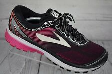 Brooks Ghost 10 DNA Black Pink Running Shoes Womens Size 10