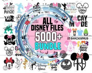 5000 Files All Disney Cartoons Bundle, Princess Font SVG PNG DXF Files Draw