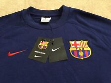 Homme Nike AW77 Fcb Authentic LS Fc Barcelone Top Sweat-Shirt Jersey Casual RRP65