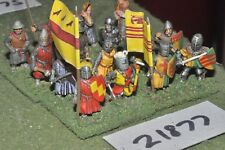 25mm medieval / english - dismounted men at arms 16 figs infantry - inf (21877)