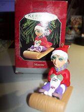 1998 Hallmark Ornament MAXINE New in box on sled with Floyd / dog W/box