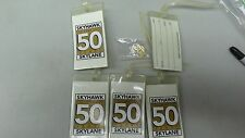 LOT SET OF CESSNA SKYHAWK 50 YEARS LUGGAGE IDENTIFICATION TAGS AND HAT PIN