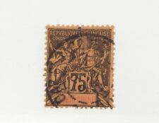 FRANCE INDOCHINA Scott #19 Θ used Coat of Arms postage stamp