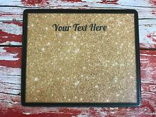 Personalised Salon Table Display Mat - Nail Polish - Gold Background - Add Name