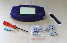 Nintendo Game Boy Advance Gba reemplazo azul de medianoche nuevas herramientas de cubierta de Shell