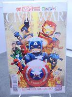 Civil War #1 001 Variant Cover Mini Mates Marvel Comics vf/nm CB2181