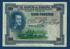 100 PESETAS. 1925. SERIE A. SELLO EN SECO REPÚBLICA. MBC