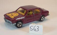 Majorette 1/60 No. 256 BMW 733 sedan Red Metallic Ligue Rhône Alpes Nr. 1 #563