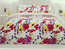 Dryen Dwell Ruby Floral  Queen Bed Quilt Cover Value Set