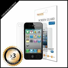 iPhone 4 4S Screen Protector Anti-Scratch Clear 3x Front Back