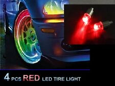 4pcs Red LED Tyre Tire Valve Caps Light Bike Car Tire led light Valve led light