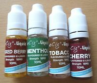 e Cig Liquid Refills Juice ecig esig cigarette Oil Vapour 6mg 12mg 18mg From UK