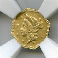 Rare 1853 Octag Liberty G25C California Gold / BG-101 NGC / First BG Variety!